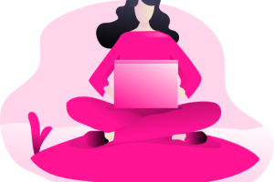 focus working pink icon