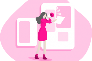 marketing pink icon